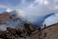 Sizilien, Ätna ,Gipfelexkursion mit Andrea Ercolani, 2019 nach Vulkanausbruch am 30.05 .©Achim-Kaeflein, Fotograf, Freiburg